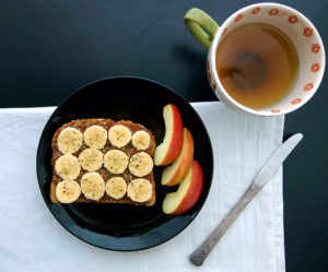 Chocolate Almond Butter Recipe on toast