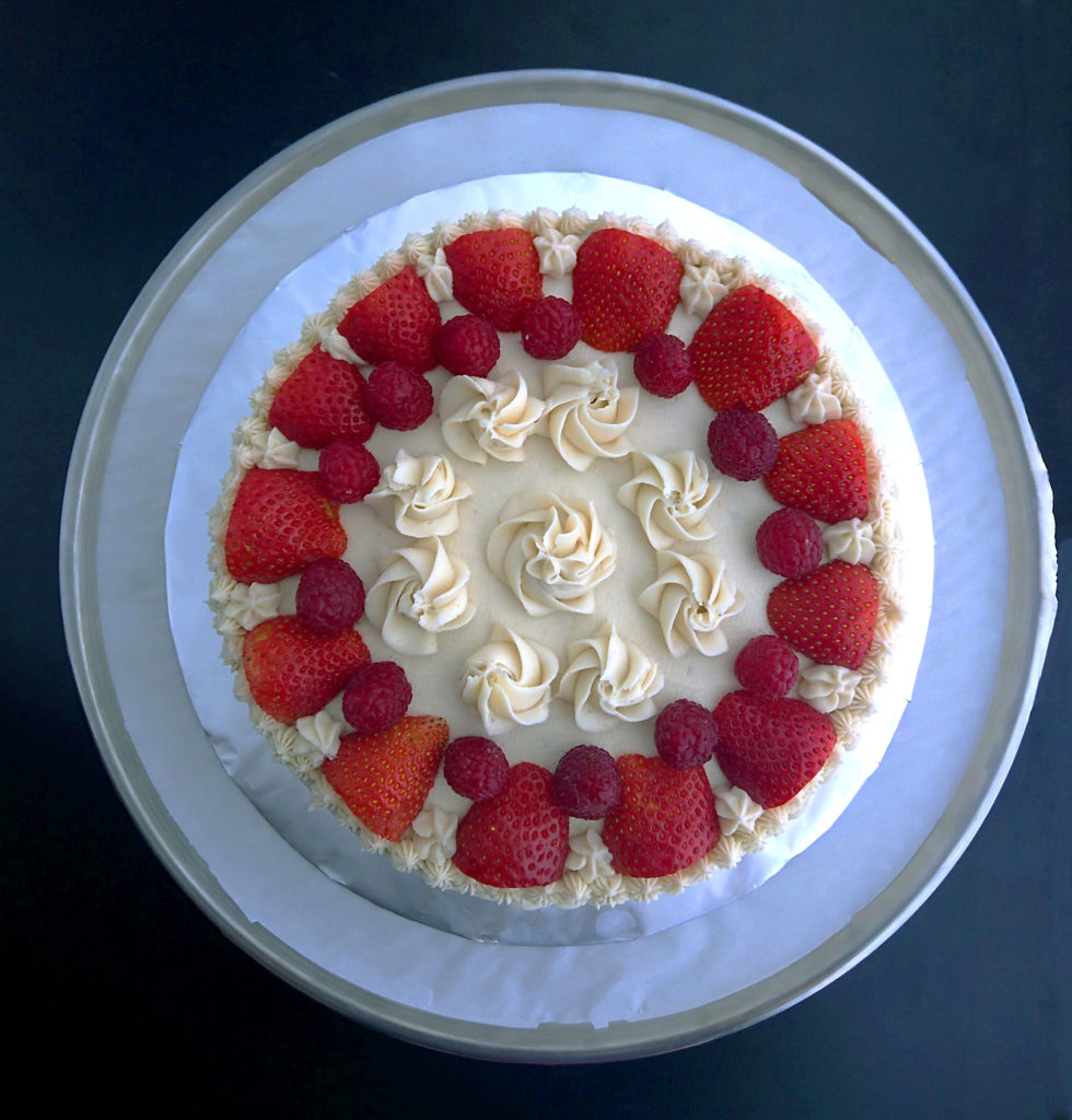 chocolate layer cake recipe overhead