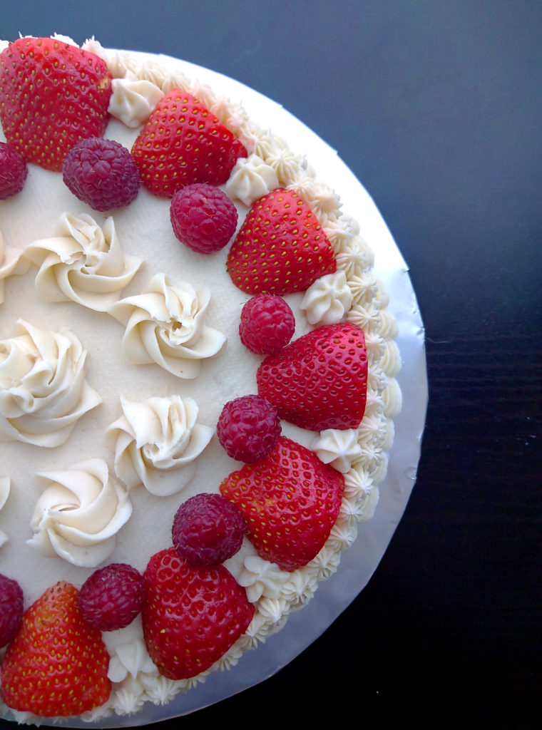 Overhead chocolate layer cake recipe
