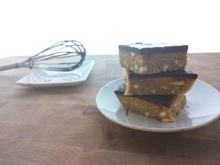 peanut butter bar recipe close-up