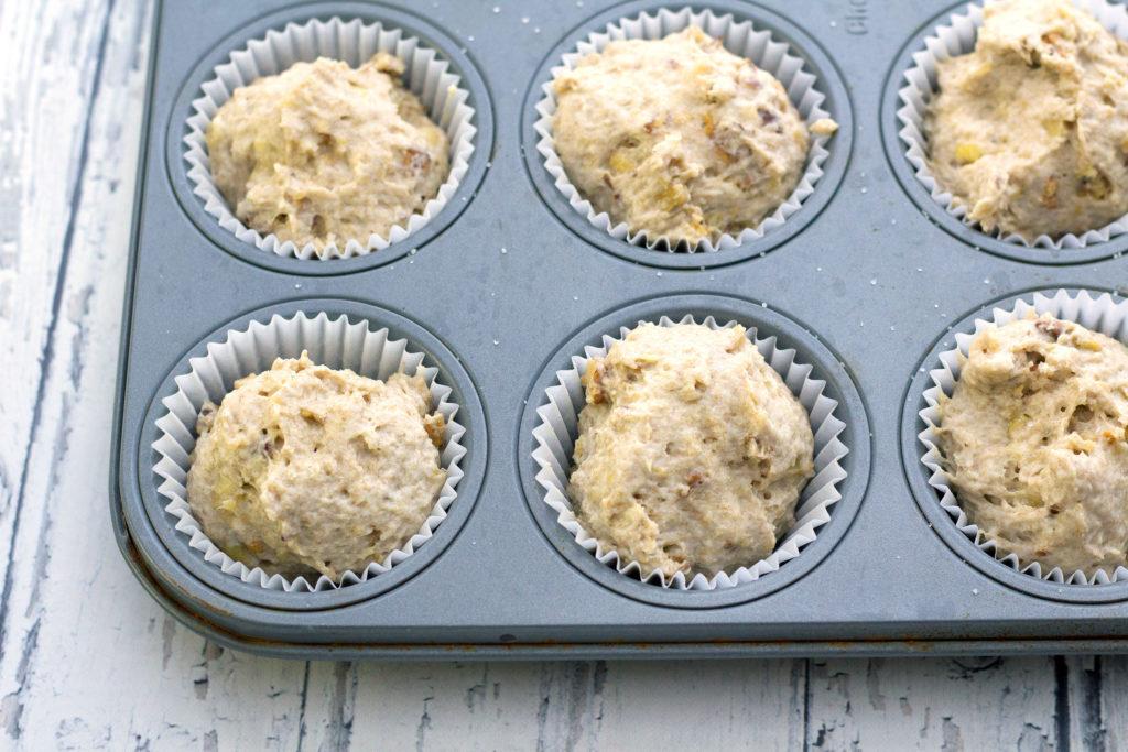 banana bread muffins batter