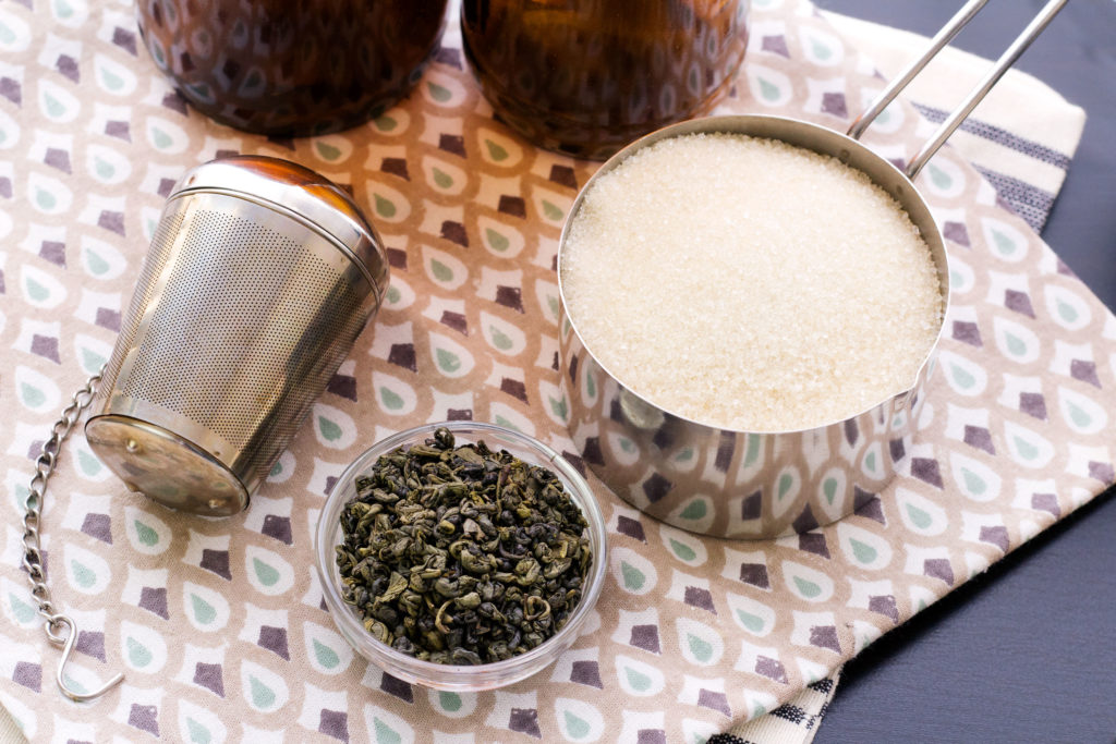 brewing kombucha at home ingredients
