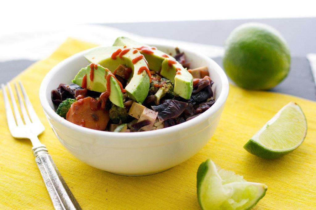 vegetable stir fry in bowl