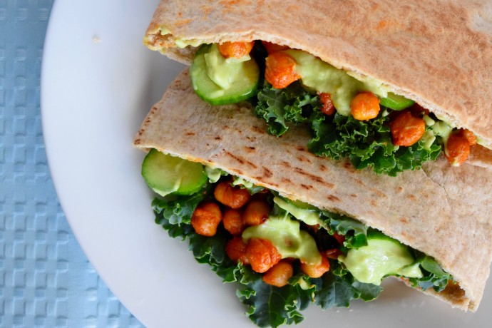 buffalo chickpea pita pockets