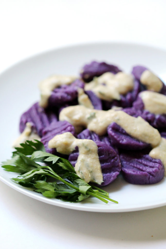 Purple-Sweet-Potato-Gnocchi-Tahini-Parsley-Sauce-5