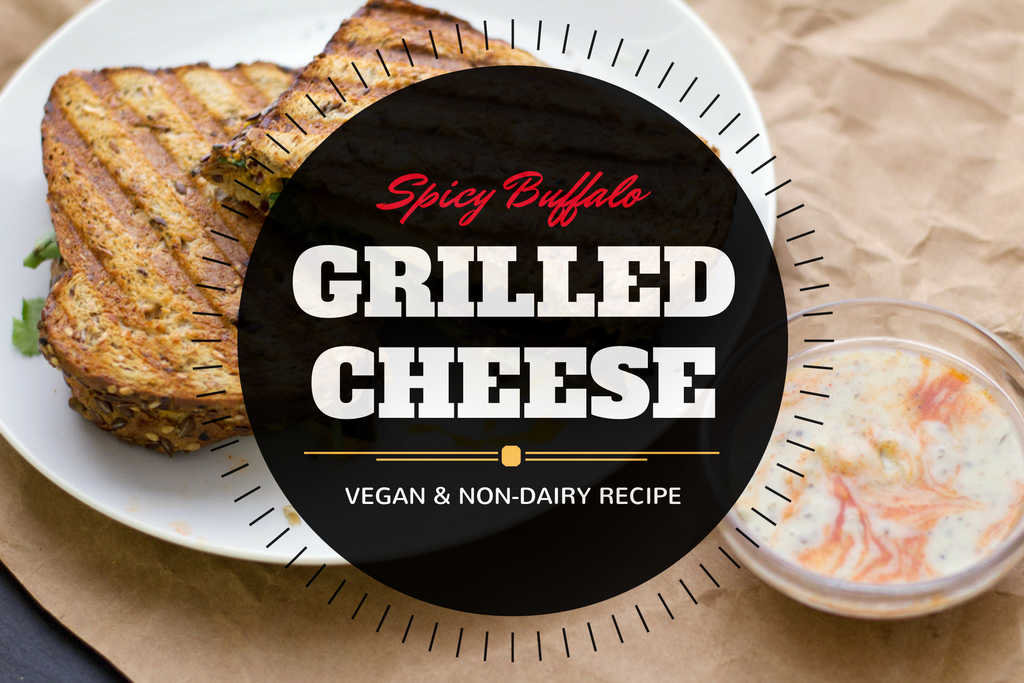 Spicy Buffalo vegan grilled cheese recipe