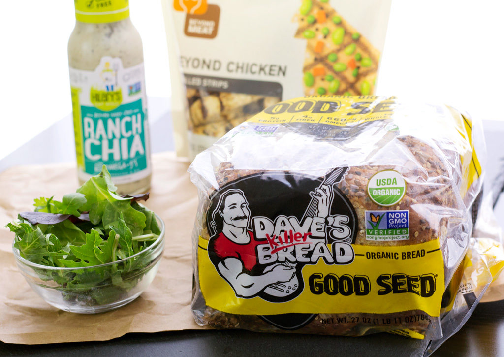 products used for vegan grilled cheese recipe
