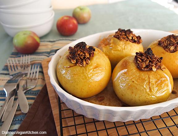 vegan baked apples fall recipe
