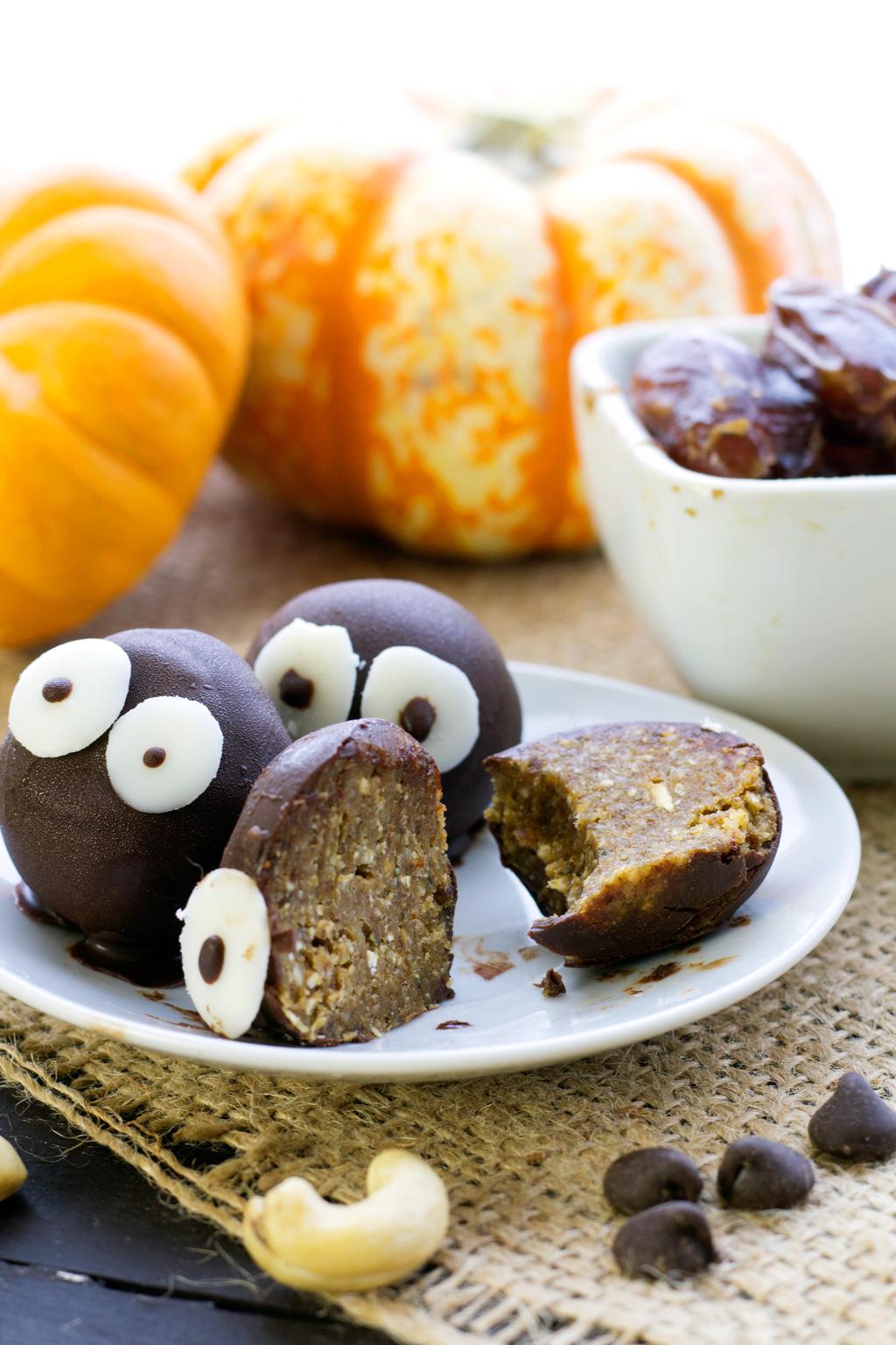 scared vegan pumpkin spice truffles