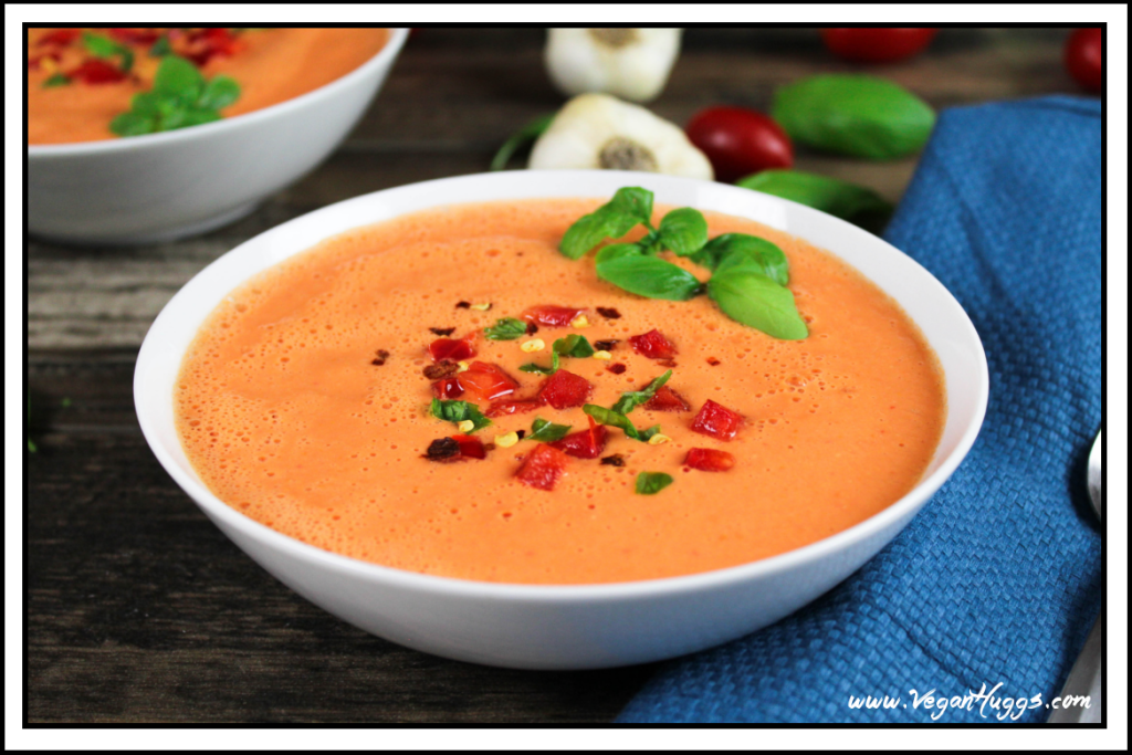 raw red pepper and tomato soup recipe