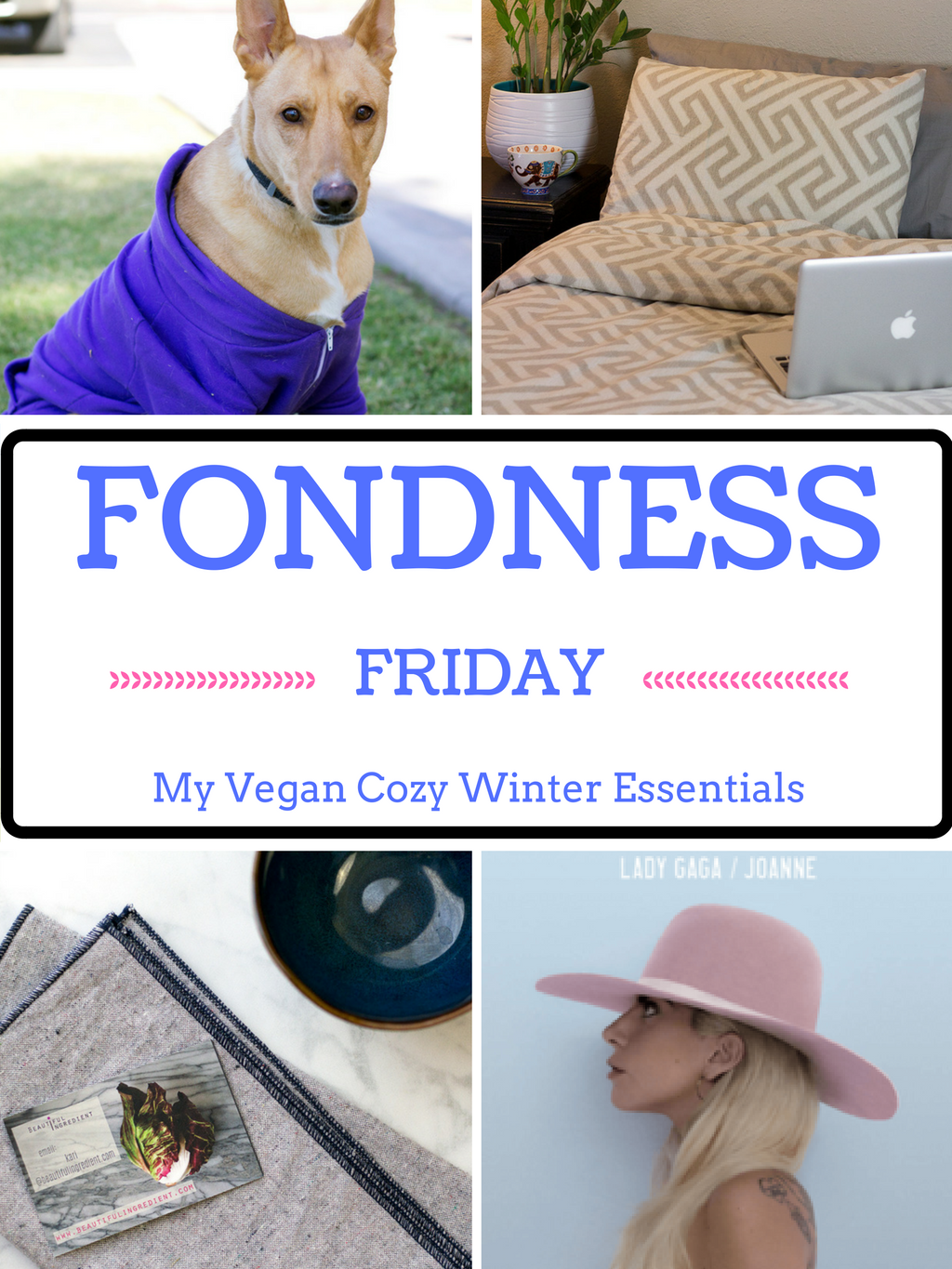 fondness friday: my vegan cozy winter essentials