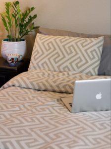 bed set from west elm cozy vegan winter essential