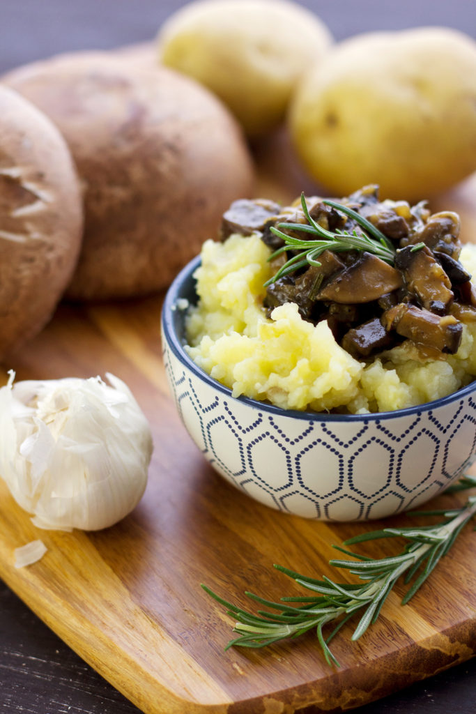 Cauliflower Mashed Potatoes With Vegan Homemade Mushroom Gravy Recipe