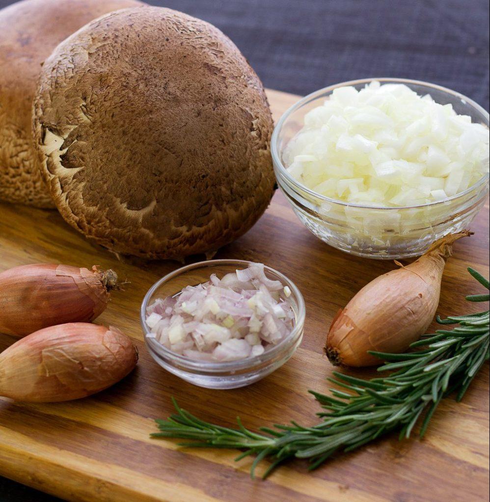 ingredients for homemade vegan mushroom gravy