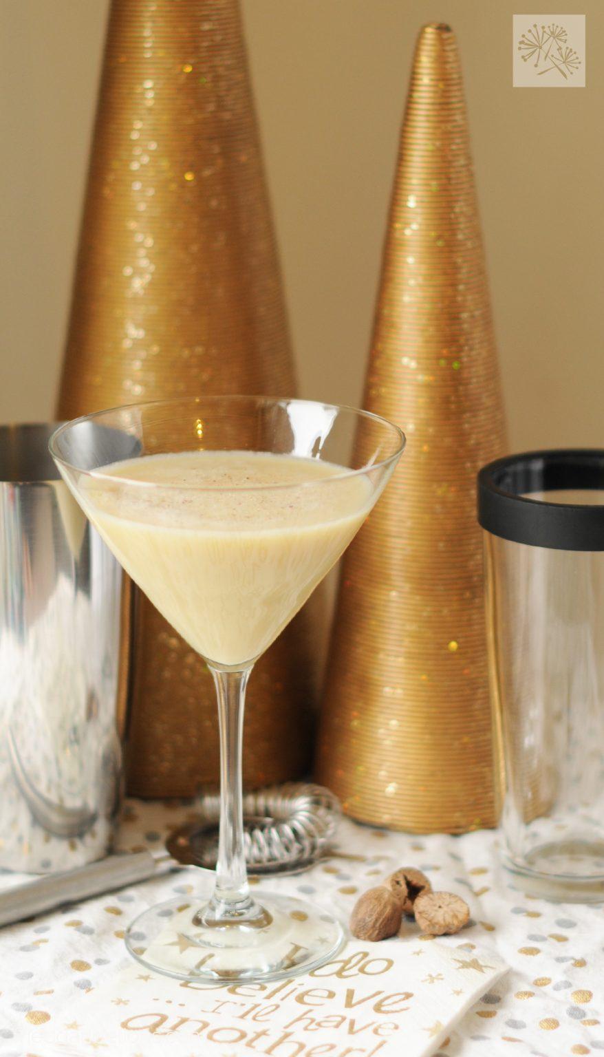 vegan eggnog martini