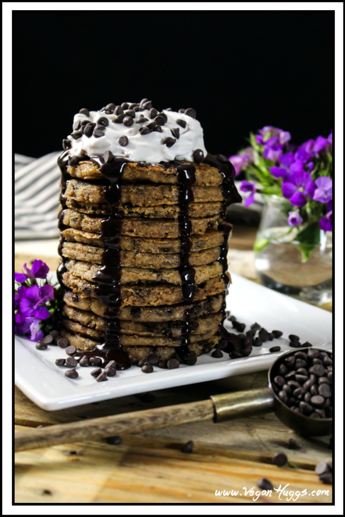 chocolate chip vegan pancakes