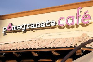 pomegranate cafe sign