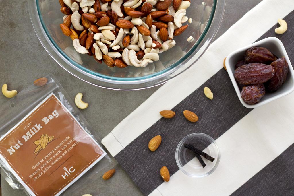 homemade nut milk ingredients