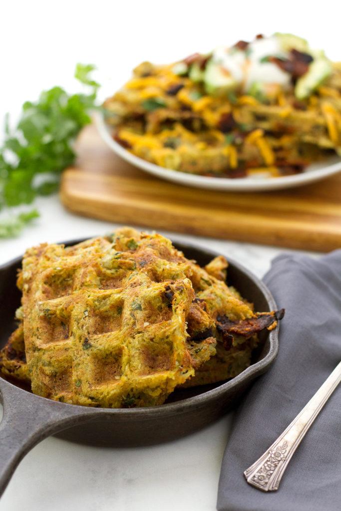 Vegan hash brown waffles