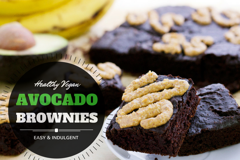 Healthy vegan avocado brownies made in a blender! Reduced sugar, easy to make, and delicious for the whole family!