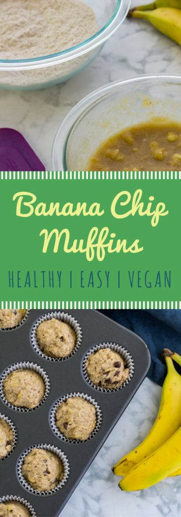 Easy vegan banana chip muffin recipe! No refined sugar, just wholesome, plant-based goodness. Perfect for breakfast, or as a healthy snack anytime of the day!