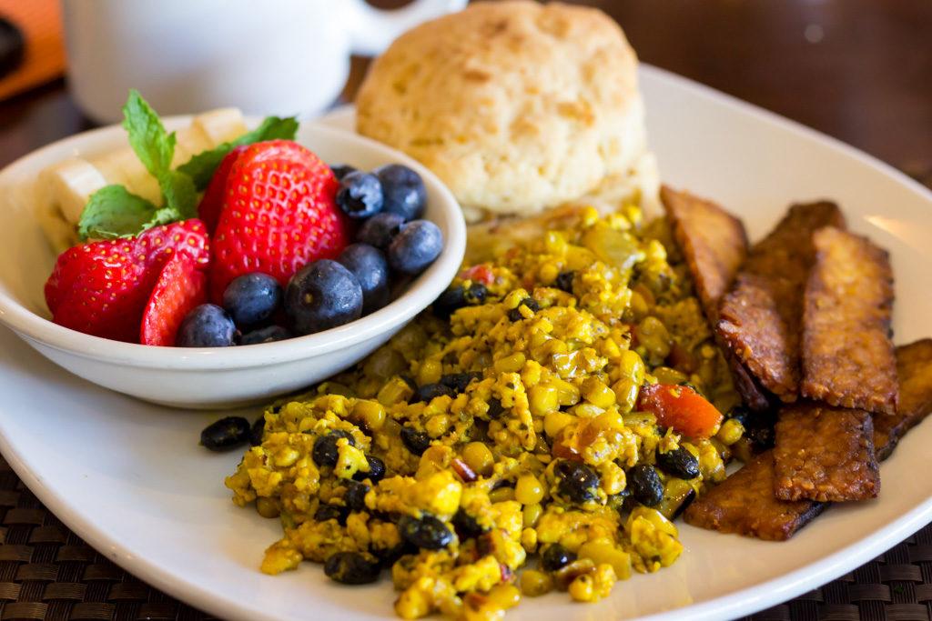 Violette's vegan breakfast platter