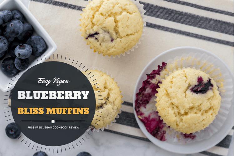 Vegan blueberry muffin recipe from fuss-free vegan cookbook