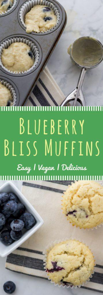 Easy vegan blueberry muffin recipe from fuss-free vegan cookbook