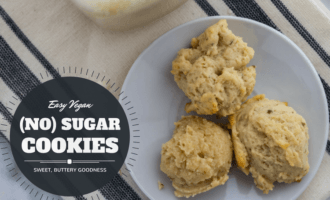 Easy vegan no sugar cookies