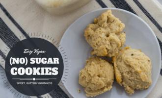 Easy vegan no sugar cookies