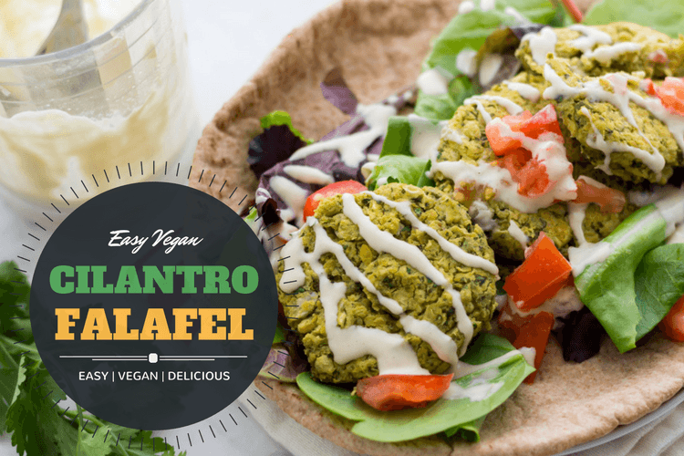 Easy vegan cilantro falafel recipe